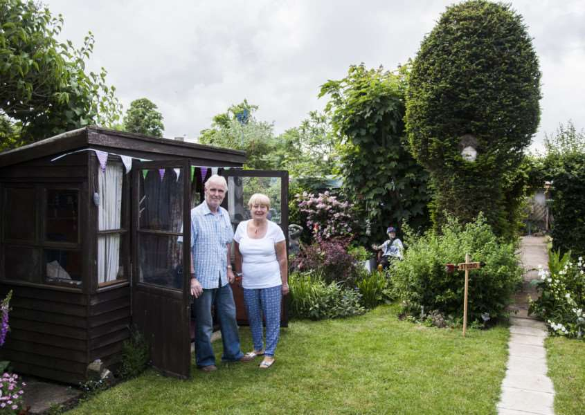 Harleston Open Gardens. No 12 Carol and Malcolm Wiles.