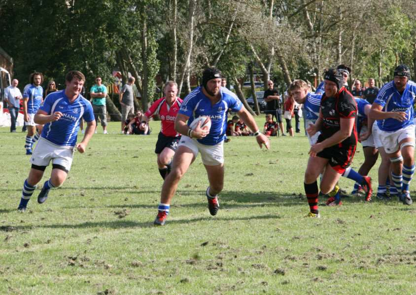 FRONT FOOT: Diss go on the attack during their victory over South Woodham