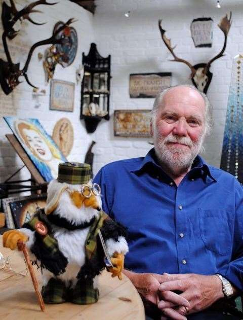 At home in his studio, Womble animator and set builder, Barry Leith. Picture: Barry Leith