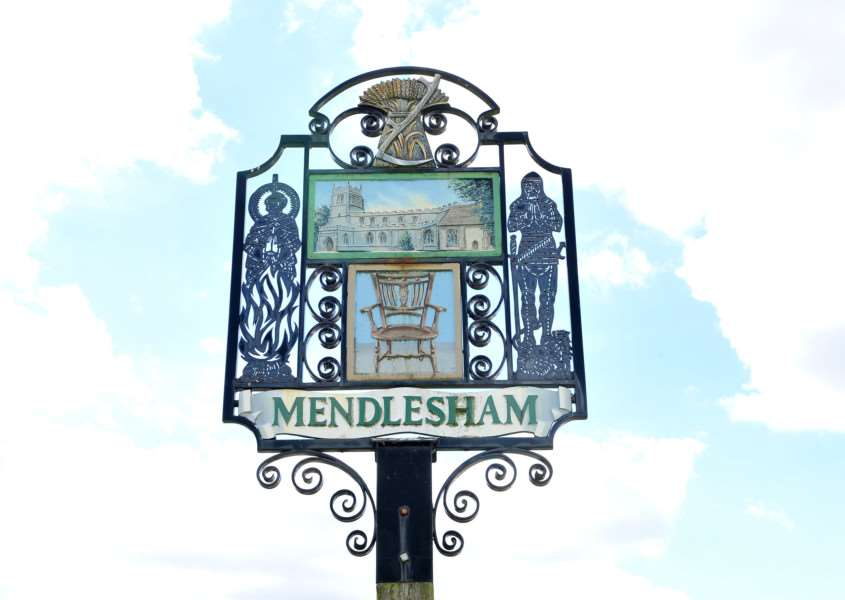 Village Focus - Mendlesham''Pictured: Village sign