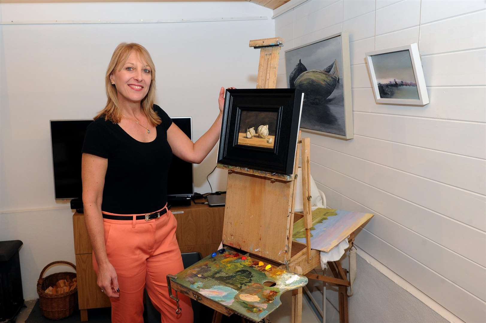 Sue Ecclestone has opened a studio to run art classes for the public.PICTURE: Mecha Morton