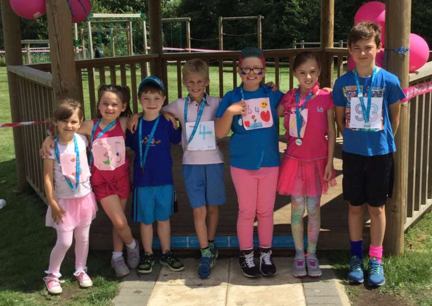 Pupils, staff and parents at Alburgh with Denton Primary School took part in Race for Life to raise money for Cancer Research UK.