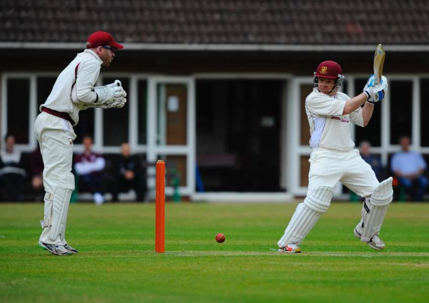 LEADING THE WAY: Captain Terry Perry aims for the boundary