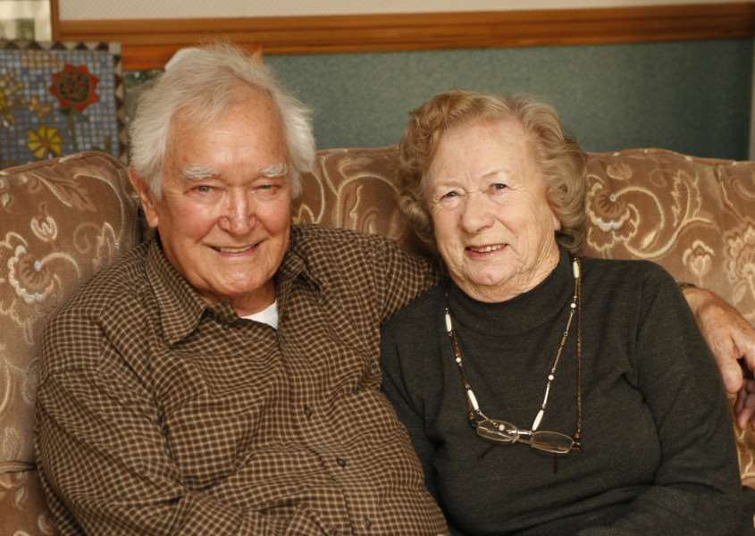 Jean and Gerald Ray, pictured in 2008.