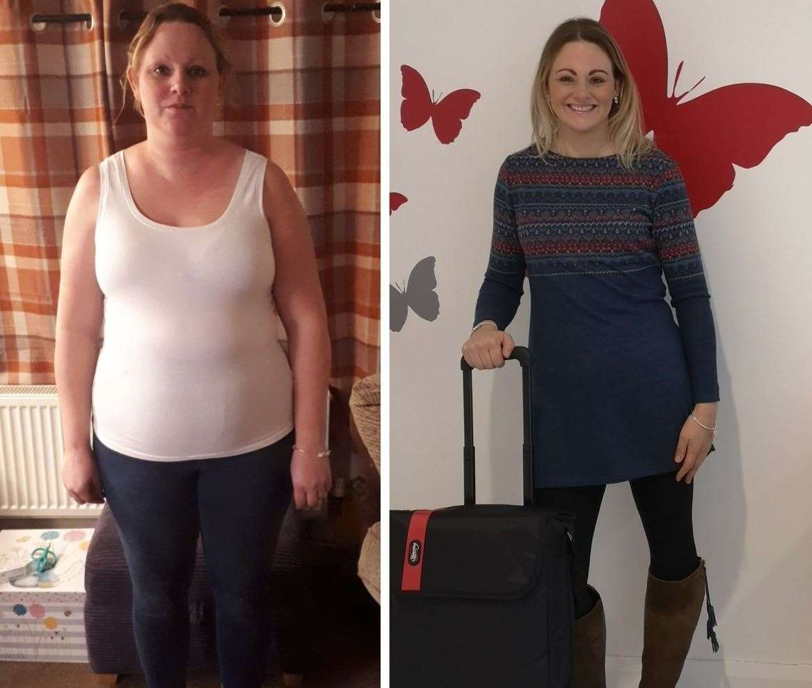 Rachael lost 4.5 stone in nine months.