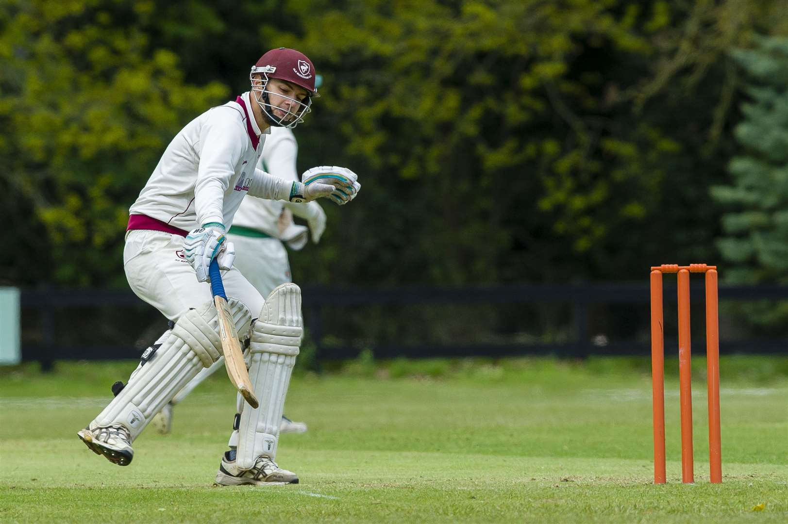 Glen Meredith of Old Buckenham in bat during the Alliance Premier League match between Old Buckenham and Horsford II...Picture: Mark Bullimore Photography. (9656714)