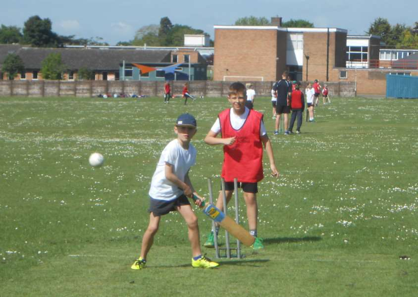 FUN DAY: Action from the recent Diss Primary Cluster Kwik Cricket competition