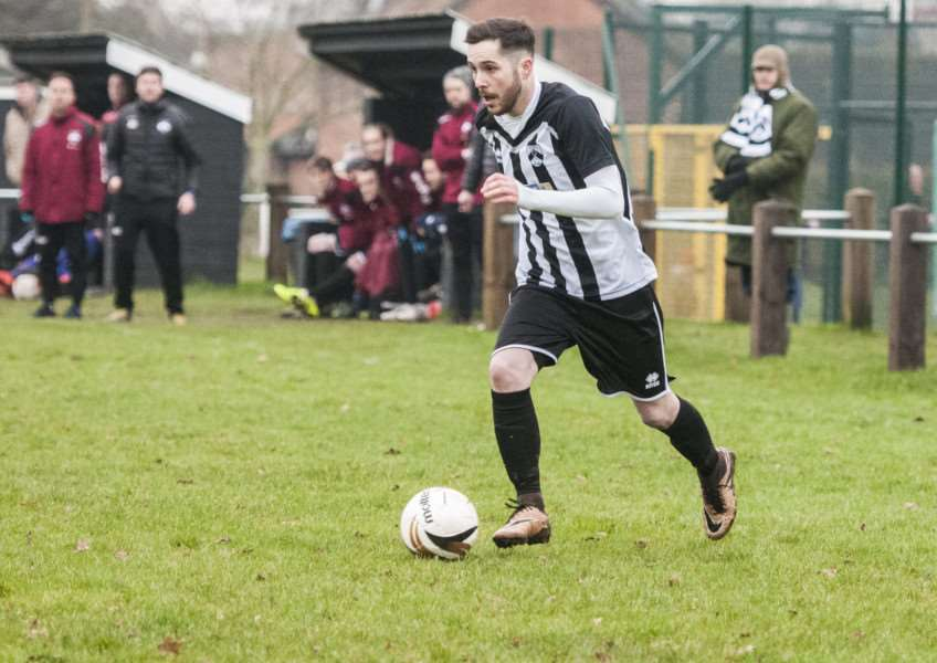 WING PLAY: Connor Delaney looks to mount an attack for Harleston