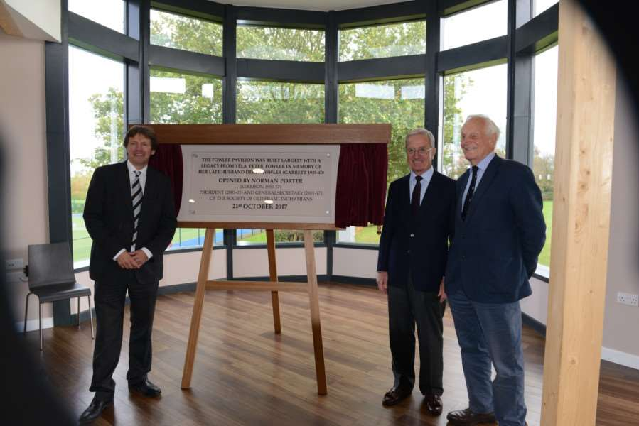 Opening of the Fowler Pavilion at Framlingham College. Submitted picture.