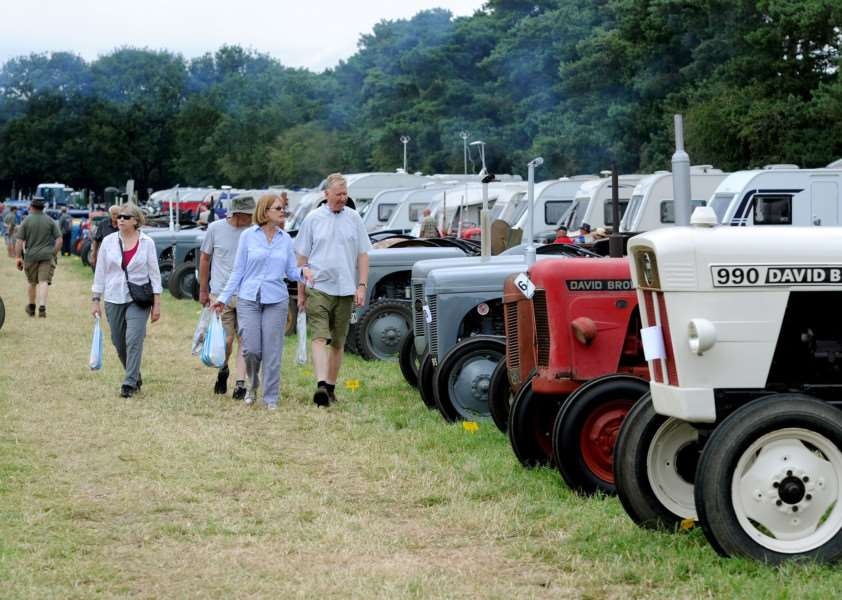 Vintage tractors displayed at Weeting Steam Rally 2017 PICTURE: Mecha Morton