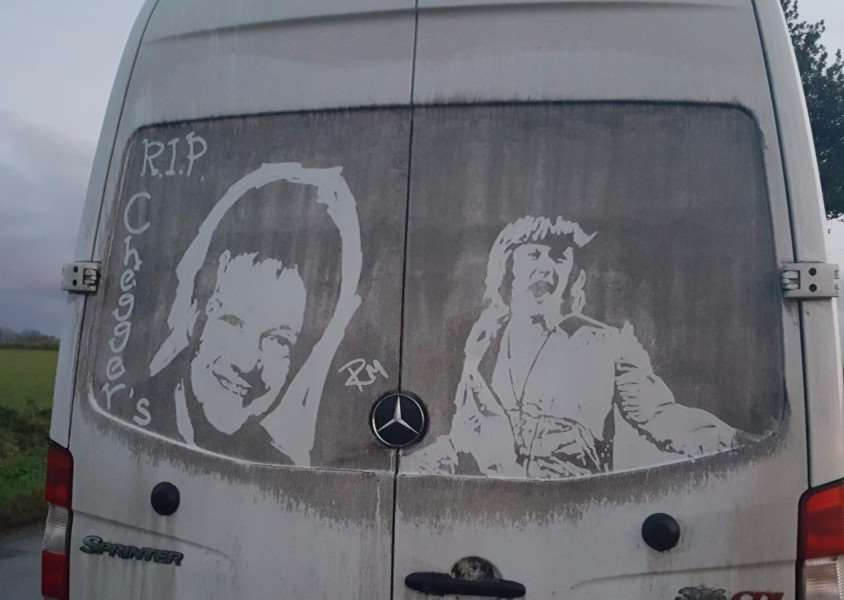 The tribute to Keith Chegwin, created by Ruddy Middy (Ricky Minns), who lives near Attleborough.