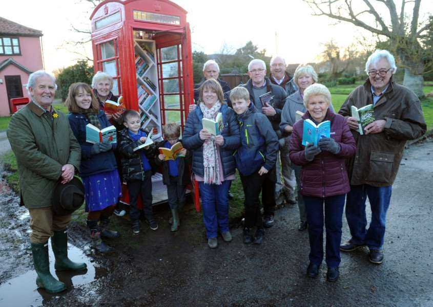 A new book swap facility in Stuston has proved popular with villagers.