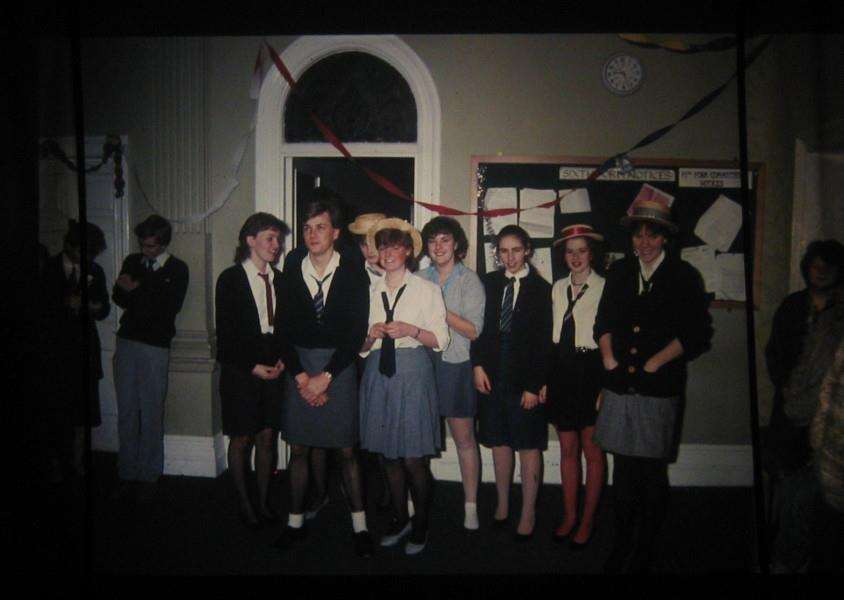 Diss High School sixth-form Uniform Day, December 1984. Photo submitted by Peter Perkins.