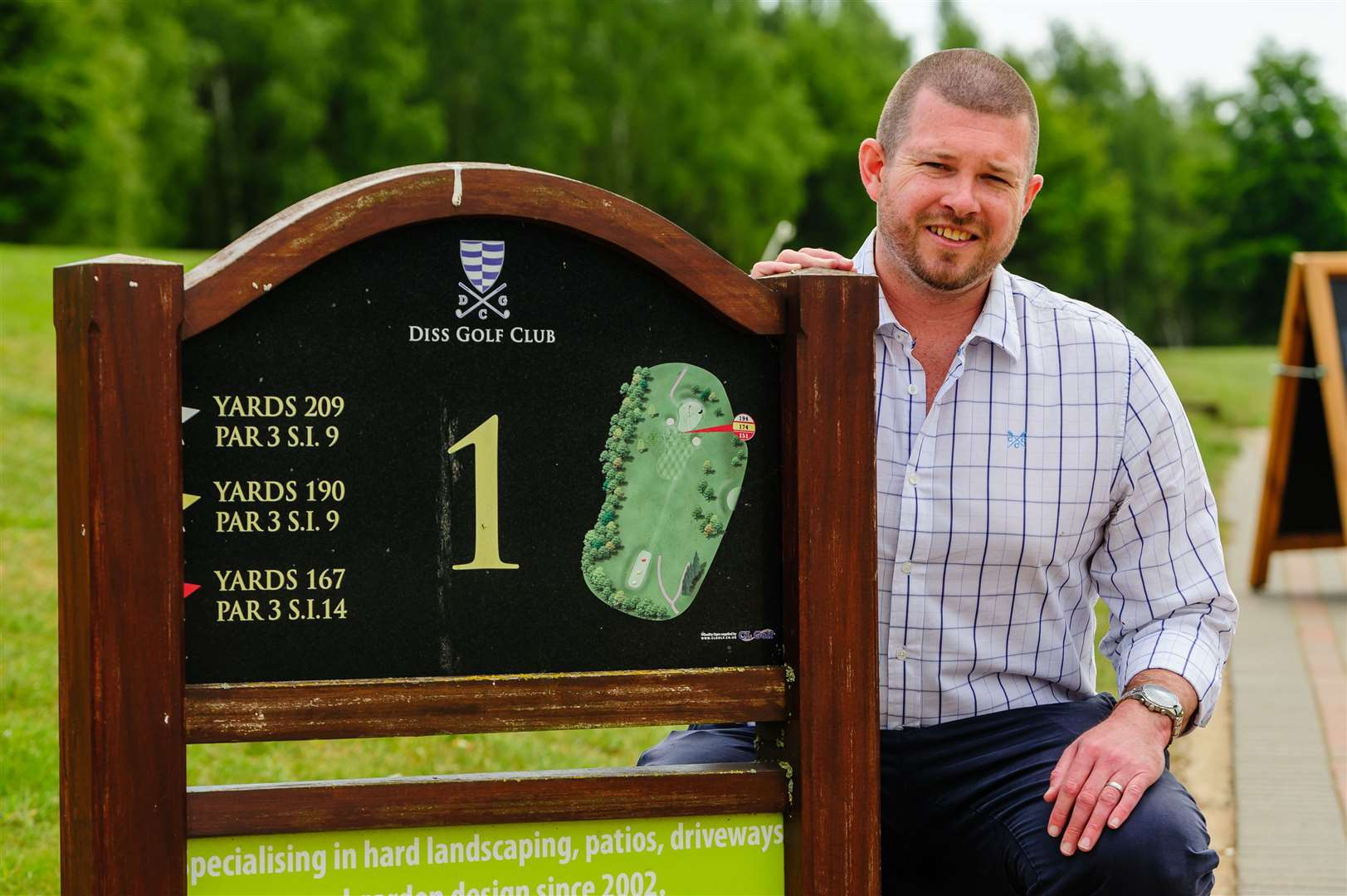 Diss, Norfolk, 20/05/2020..Diss Golf Club which was reopened to it's members on the 13th May 2020 after the Covid-19 lockdown was relaxed by the Government. Pictured is general manager Steven Peet. . .Picture: Mark Bullimore Photography. (34966874)