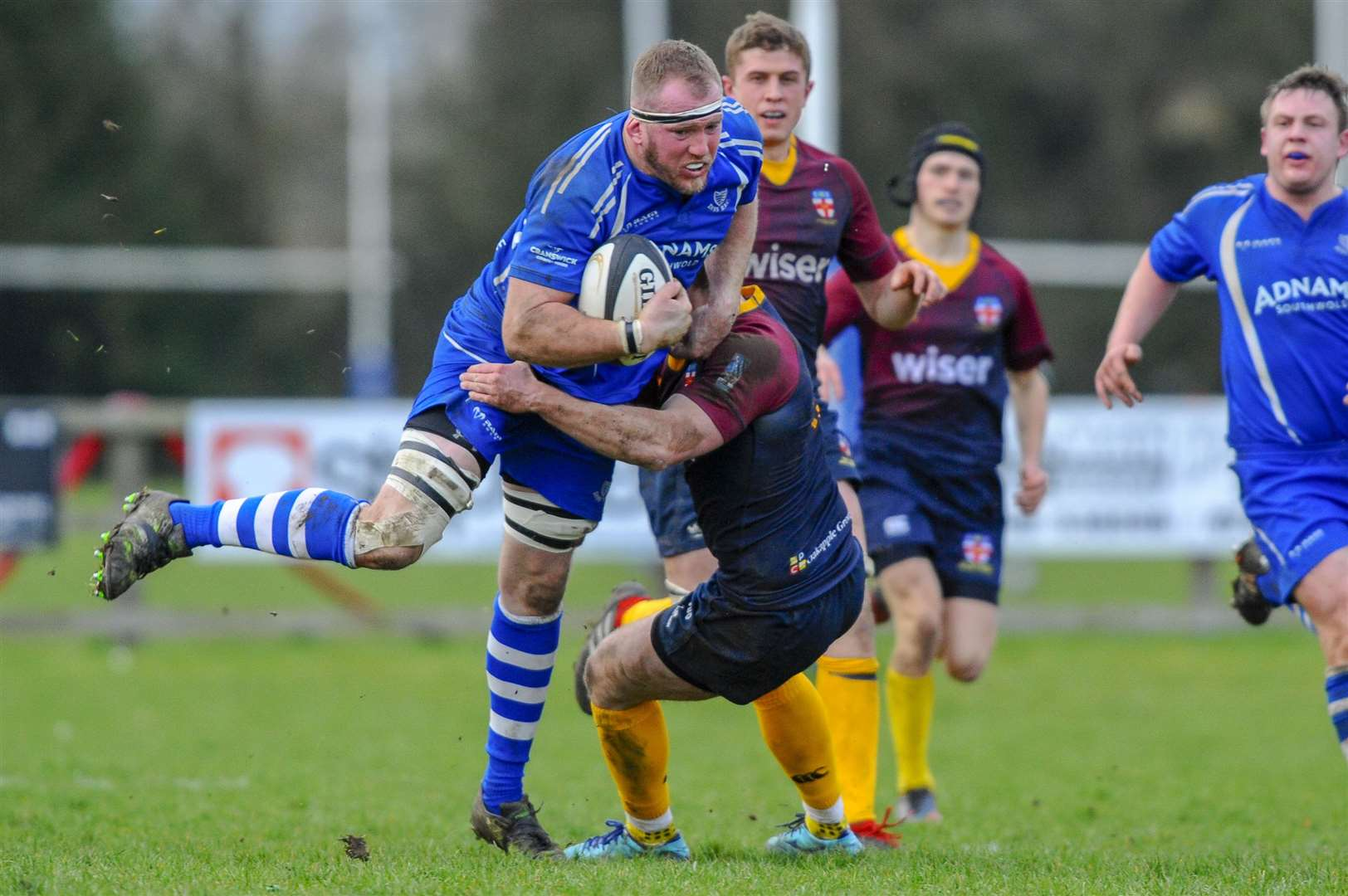 Rugby action from Diss v HAC - John Bergin..Picture: Mark Bullimore Photography. (7528150)