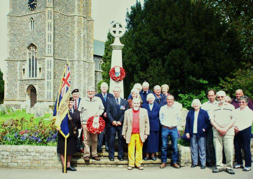 Members and friends joined the officers of the Stradbroke and District Branch of the Royal British Legion on Friday, 8th May, to remember the fallen at the village War Memorial. ANL-150513-131516001