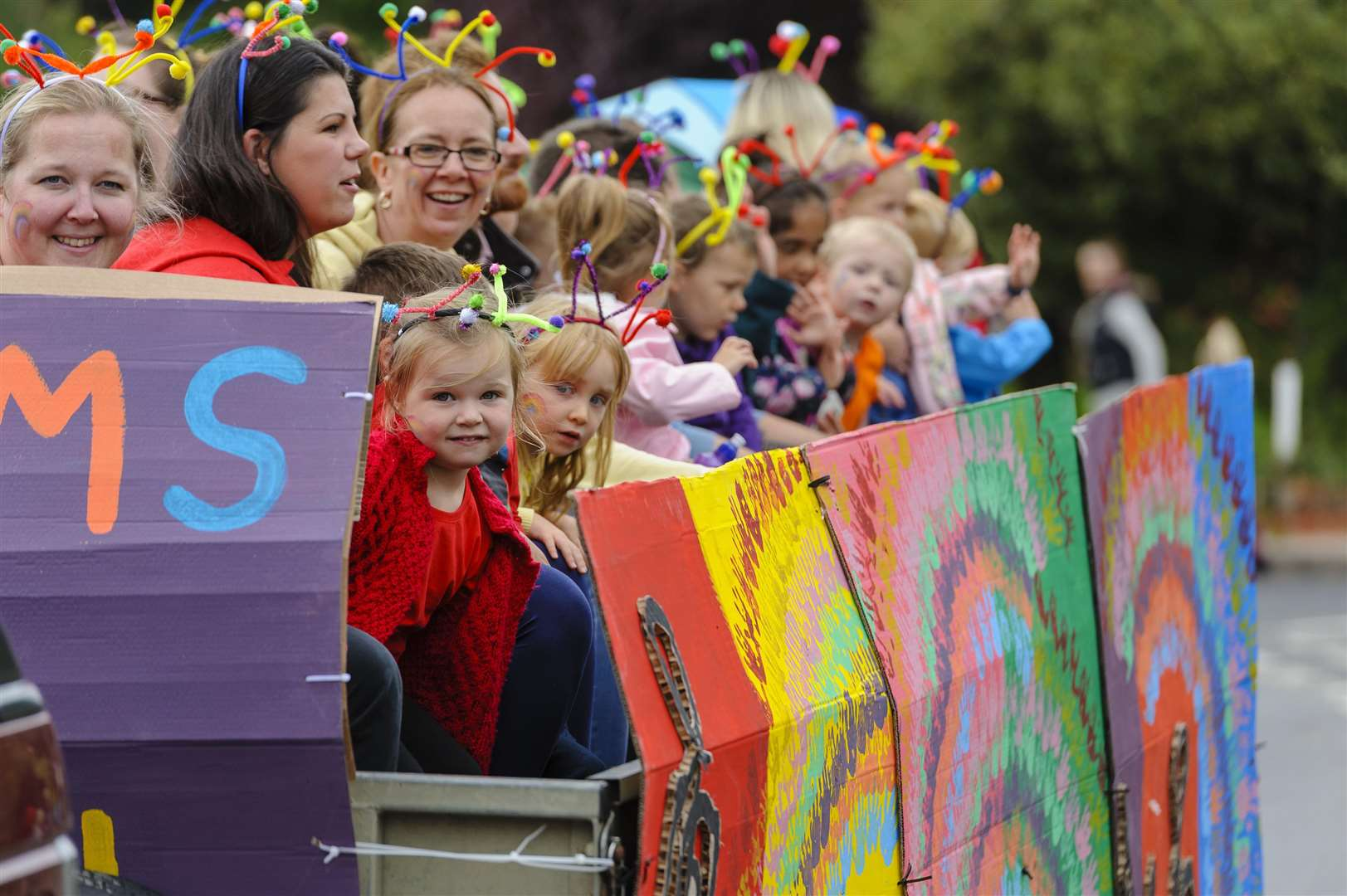 The Pulham Market Carnival parades through the village. For more pictures from the Pulham Market Carnival, see this Friday's Diss Express newspaper.