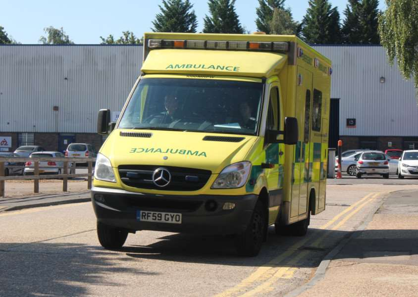 Ambulance dispatched to Diss