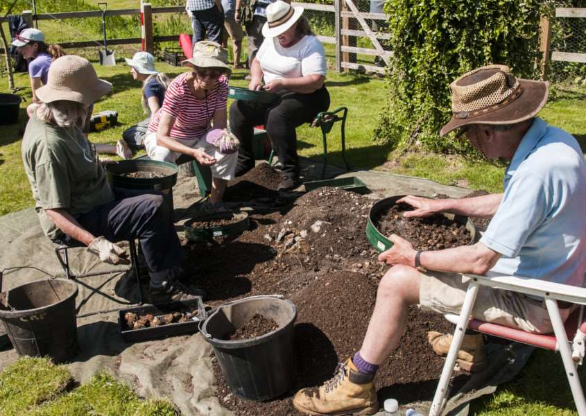Test pits are being dug in the gardens of Tasburgh residents, as part of the ongoing Imagined Lands archaeological project looking at the village's history.