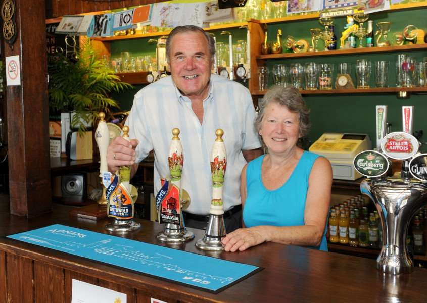 Sylvia and Alan Garlic retire after keeping The Swan pub in Brome for 33 years.''''PICTURE: Mecha Morton