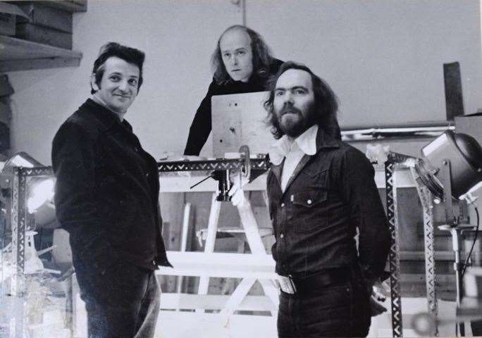 Legendary puppet maker and animator, Ivor Wood, Barry Macy and Barry Leith, back in the '70s