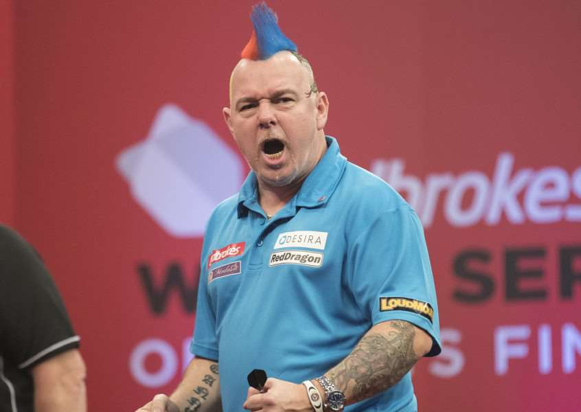 BITING BACK: Mendham's 'Snakebite' Peter Wright believes his current darts have the potential to help him topple the world number one Michael van Gerwen. Picture: Steve Welsh/PDC