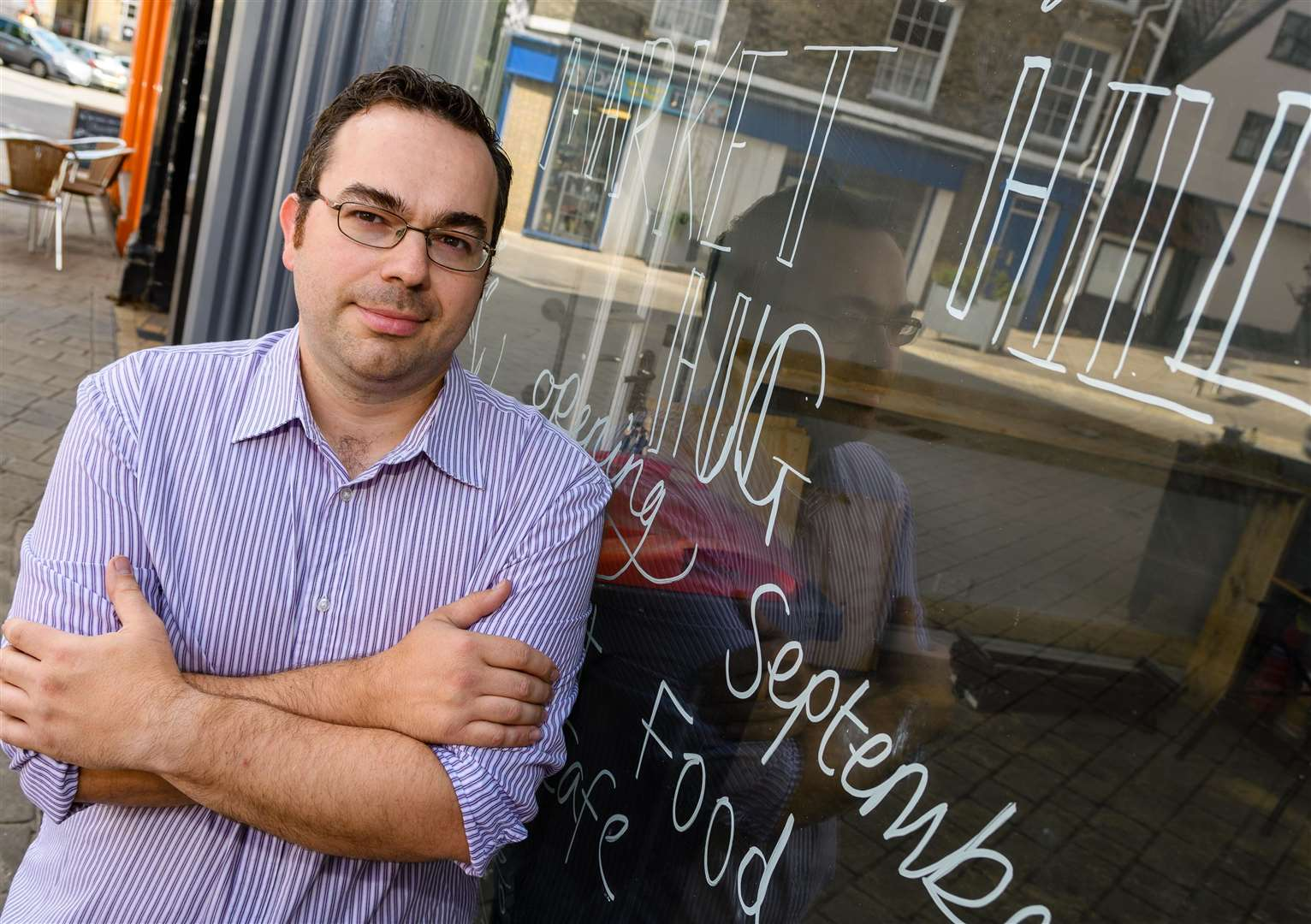 James Richardson Thacker is due to open his café Hug, at the end of the month. Picture by Mark Bullimore.