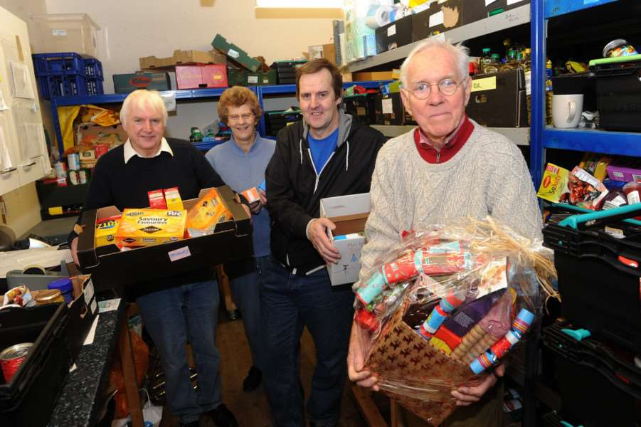 Volunteers at the Waveney Foodbank, pictured last year.