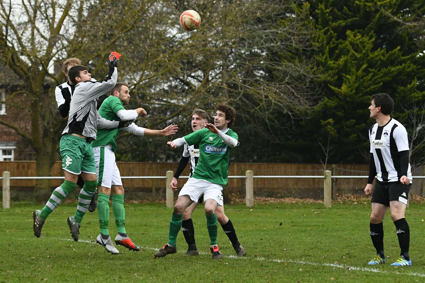 Football action from Harleston Town vs Lakenheath - ..Picture by Mark Bullimore Photography. (6332774)