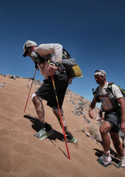 Scole's Duncan Slater taking part in the Marathon Des Sables. Submitted photo.
