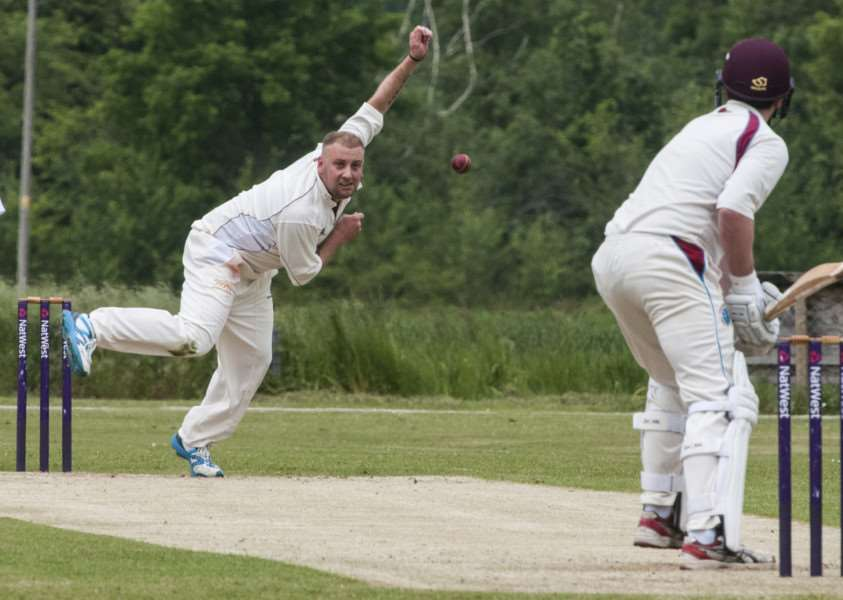 BIG WIN: Dan Constable (bowling) contributed well with the bat.