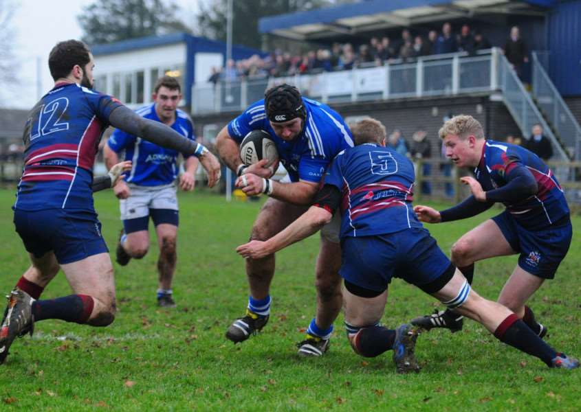 HOME LOSS: Action from Diss' defeat