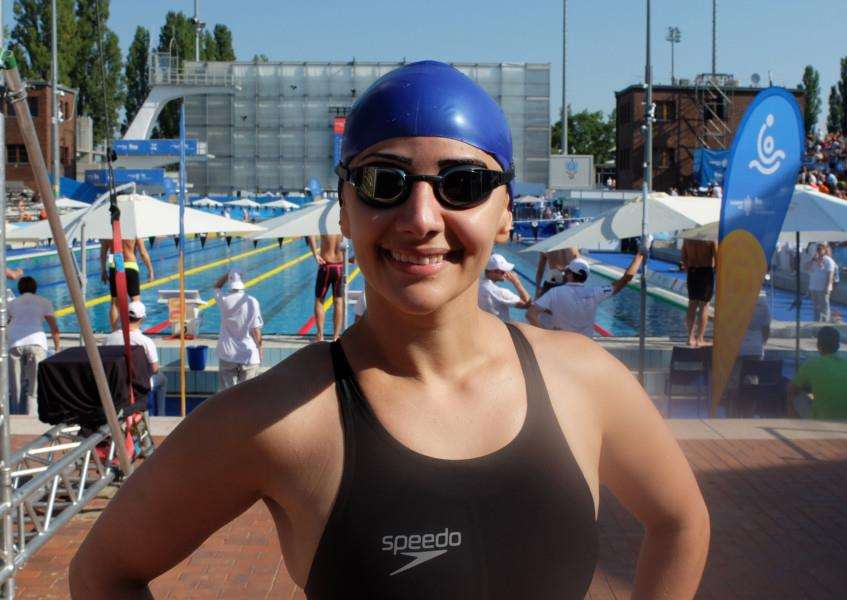 ALL SMILES: Hanna Dabbour competed at the Fina World Masters Swimming Championships for a second time