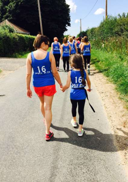 Employees of Diss salon Crackers and Chaps walked 16 miles from Attleborough, raising money for an unwell toddler. ANL-150818-121556001