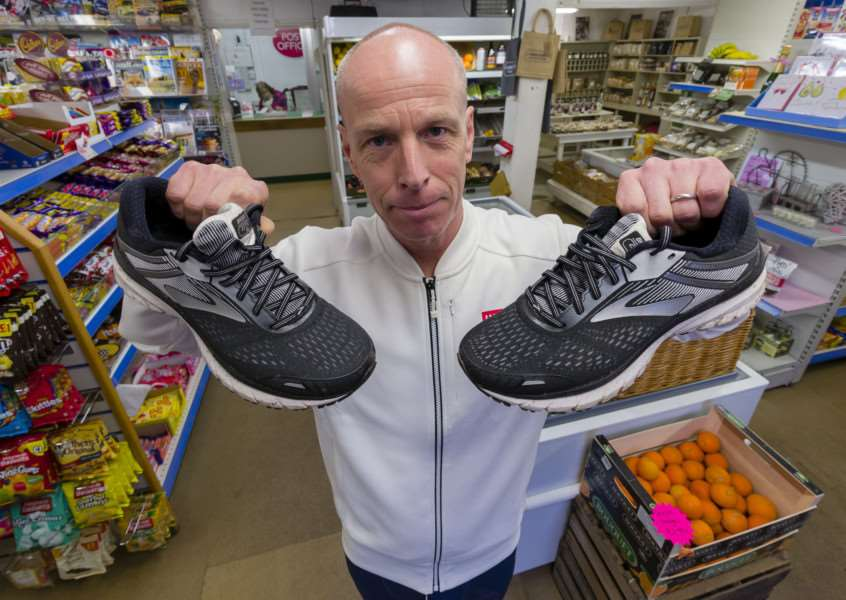 Garboldisham, Norfolk. Robbie Starling, shop owner of the Garboldisham Village Shop and Post Office is raising �3k for Each by running the London Marathon in April.''Picture: MARK BULLIMORE PHOTOGRAPHY