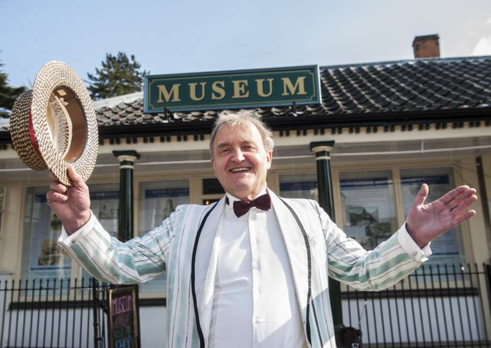 The reopening of Diss museum for 2015. Manager Basil Abbott. ANL-150315-161627006