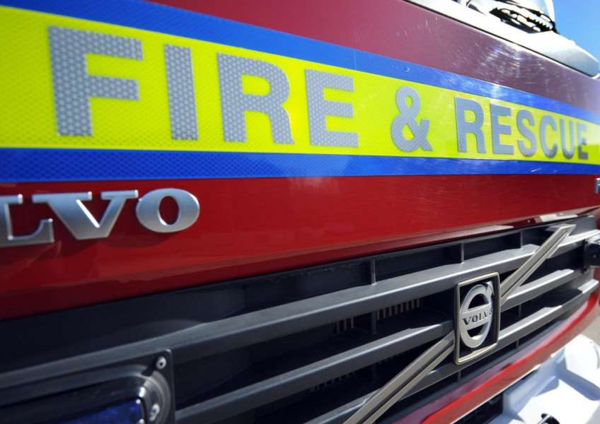 A fire crew has responded to a suspected arson in Diss