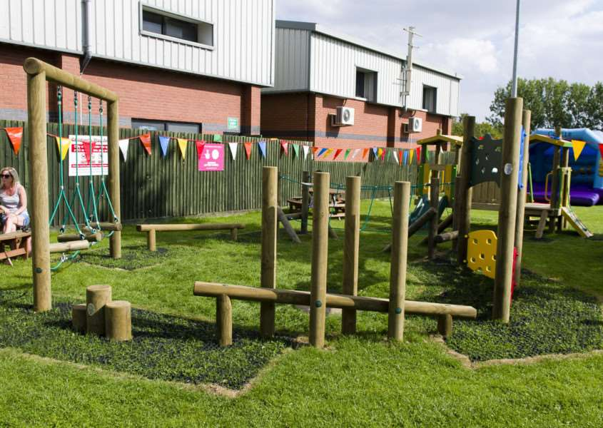 Debenham, Suffolk. Following a successful application to the Big Lottery Fund, a new play area and trim trail is officially opening in Debenham at the Leisure Centre. ''Picture: MARK BULLIMORE