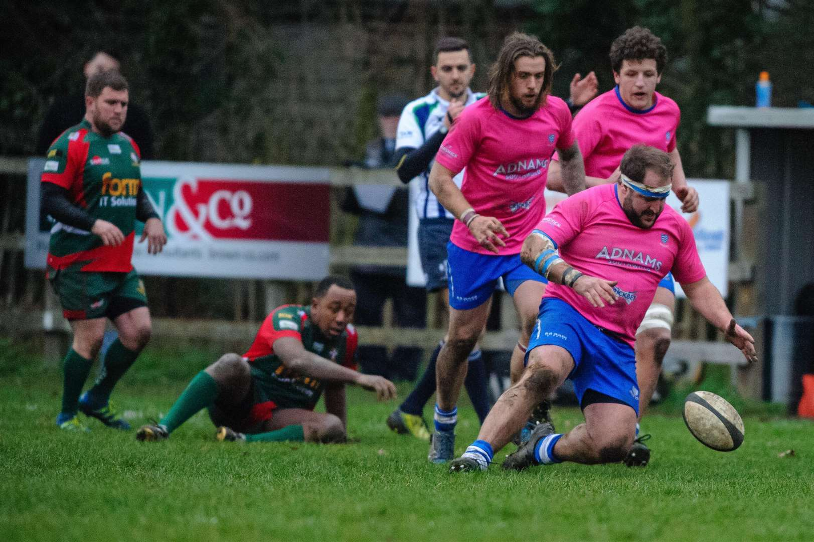 BIG DEFEAT: Diss, pictured in action during their recent win against Luton, were well beaten by Eton Manor in London 1 North at the weekend