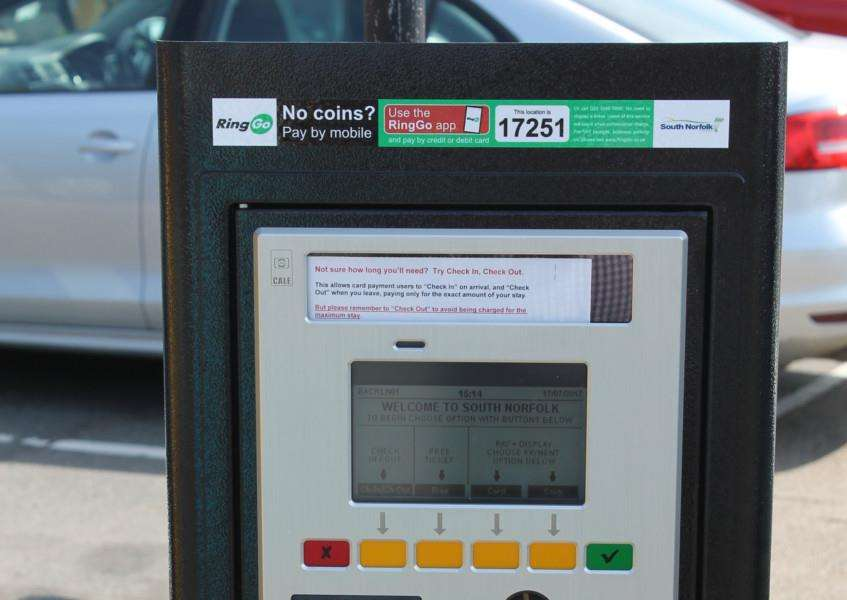New state of the art machines have been installed in South Norfolk Council-run car parks - giving motorists more ways to pay. Submitted photo.