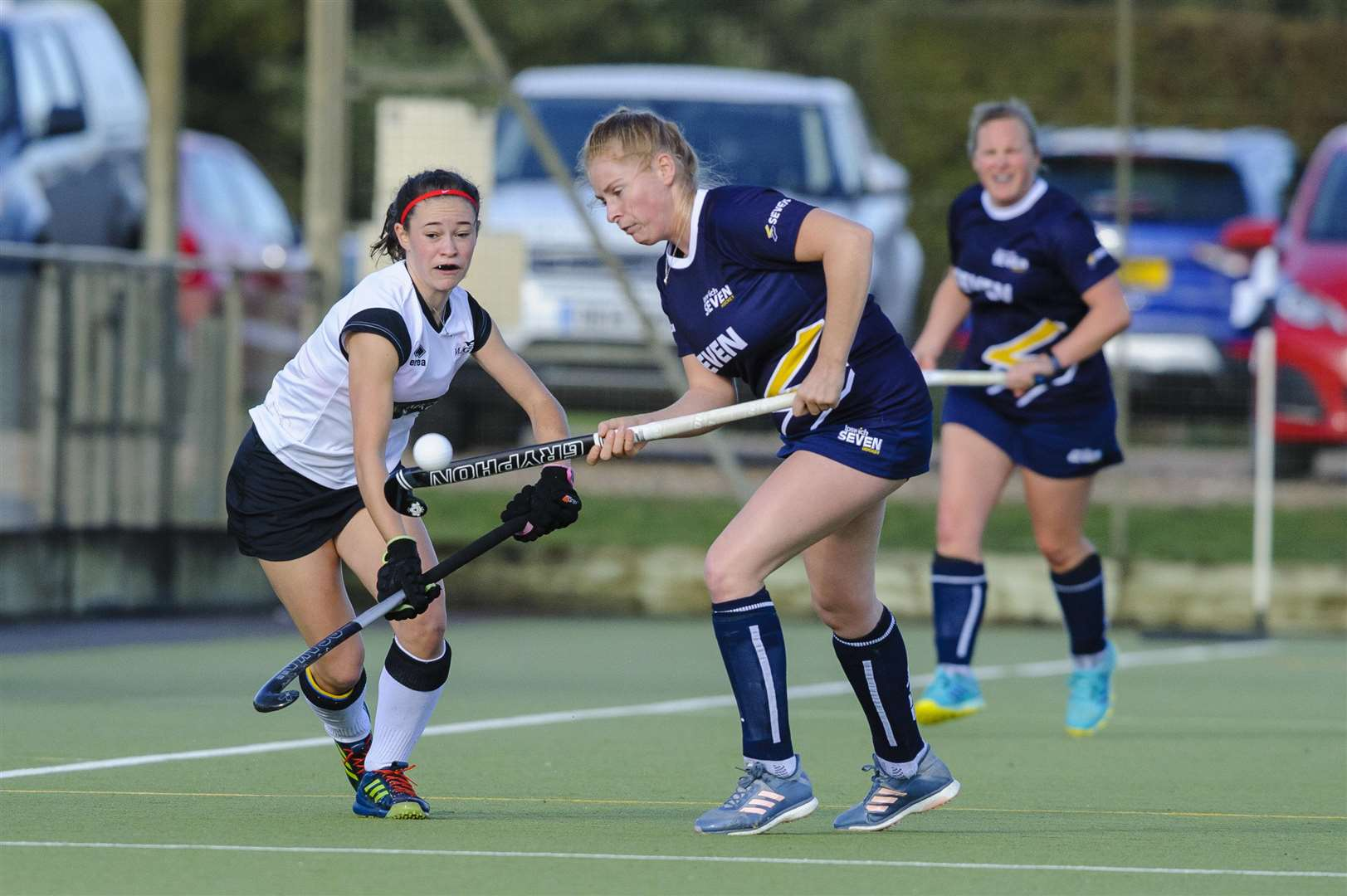 Weybread, Suffolk, UK, 03 November 2018..Hockey action from Harleston Magpies Ladies I v Ipswich, Lara Taylor..Picture: Mark Bullimore Photography. (5187834)