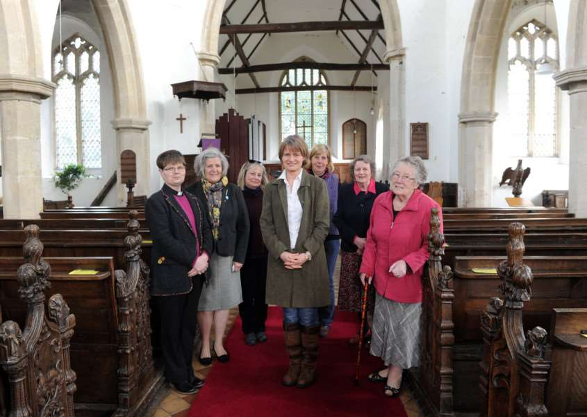 St John the Baptist Church has received a �220,000 grant from the Heritage Lottery Fund''Pictured: The church team ''PICTURE: Mecha Morton