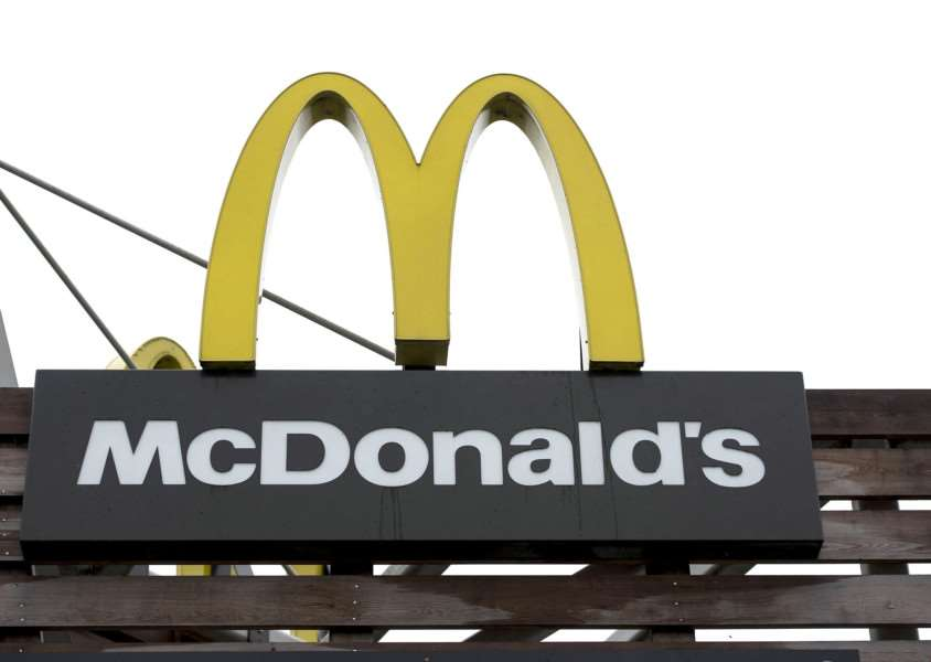 McDonalds logo.''Picture Mark Westley