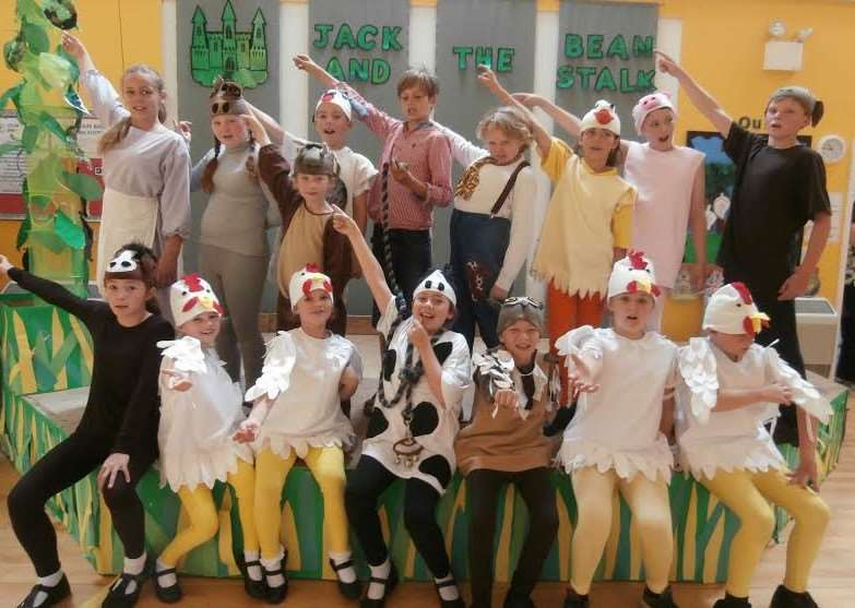 Wilby Primary School performs Jack and the beanstalk