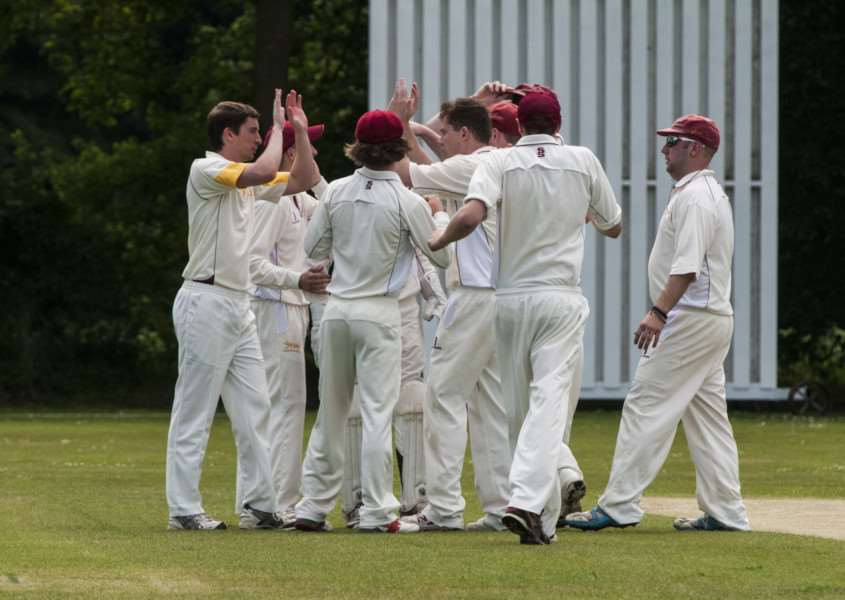 MIXED SUCCESS: Garby celebrate a Downham wicket at the weekend