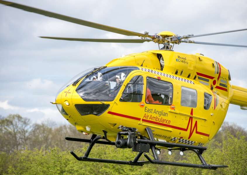 East Anglian Air Ambulances EC145 T2 helicopter