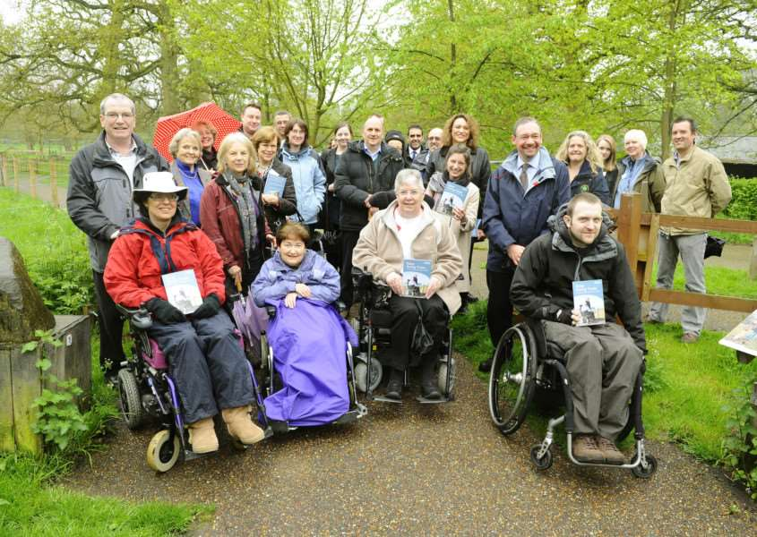 Launch of new Easy Going Trails by Suffolk County Council at Thornham Walks. They're designed to encourage people with disabilities and limited mobility to enjoy and explore the beautiful countryside. ENGANL00120120905184028