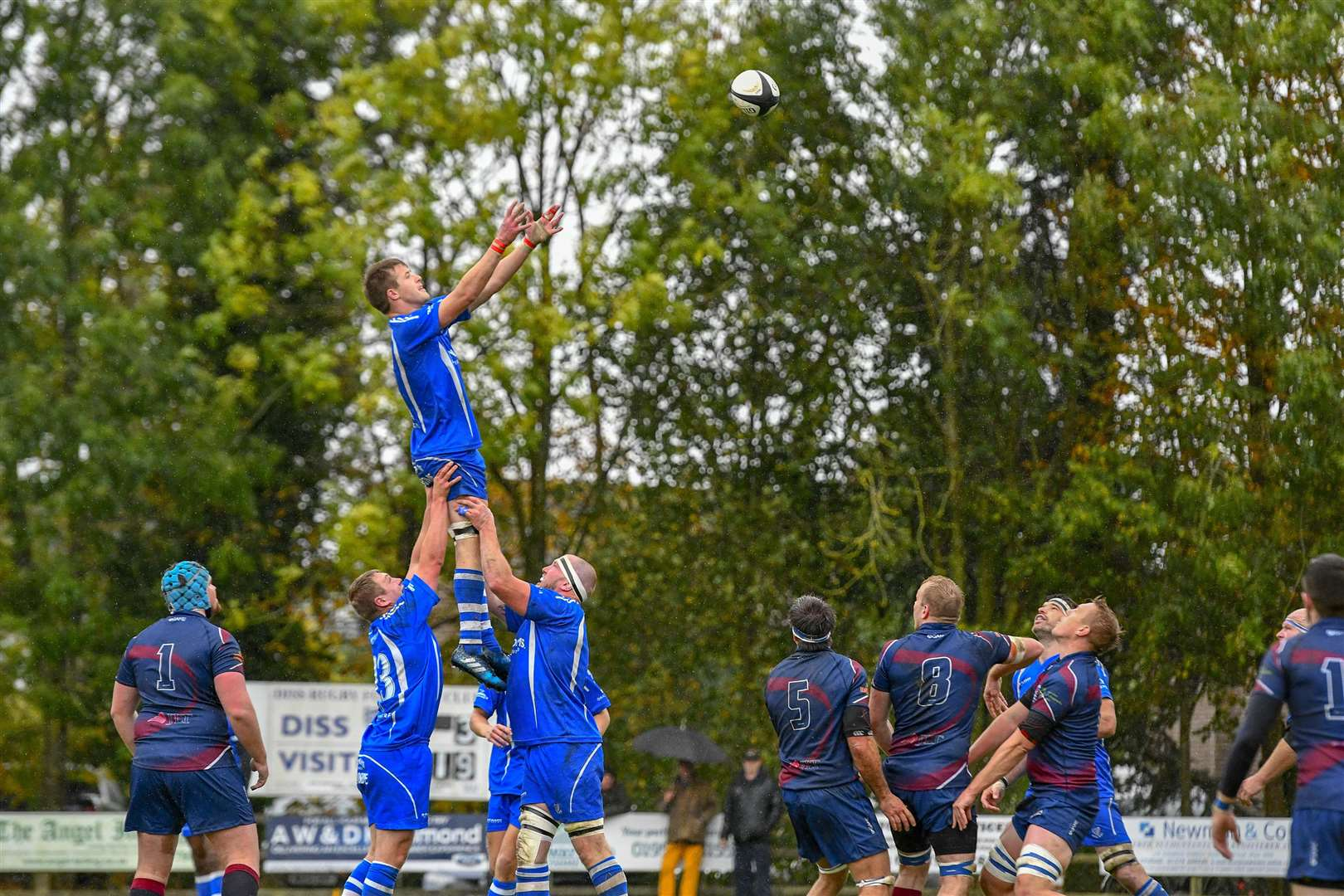 Roydon, Norfolk, UK, 06 October 2018..Rugby action from Diss v Old Haberdashers - Matt Warren..Picture: Mark Bullimore Photography. (4635739)