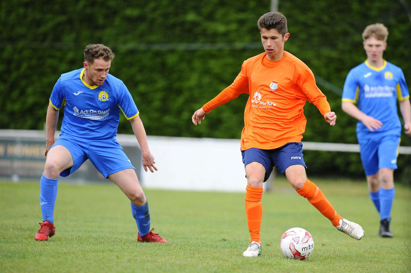 Football action from Diss Town FC vs March FC, Josh Lucraft...Picture: Mark Bullimore Photography. (21560764)