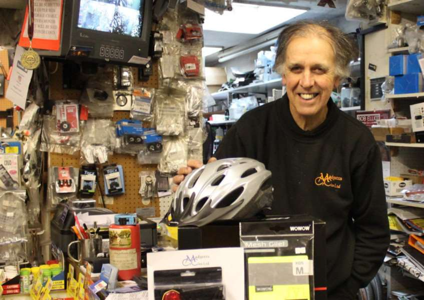 Mick Madgett, of Madgetts Cycles, Diss.